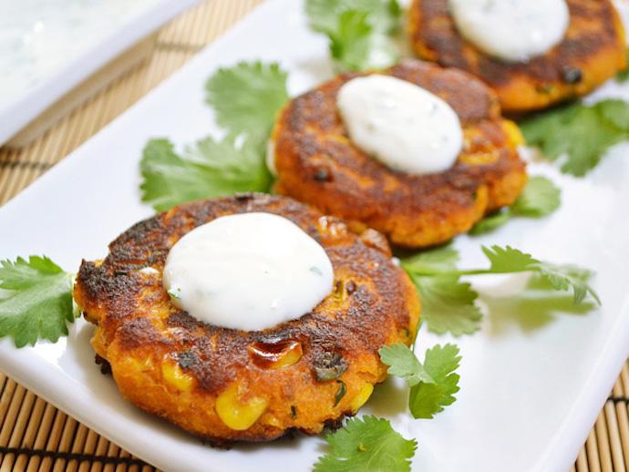 Sweet Potato Corn Cakes 1