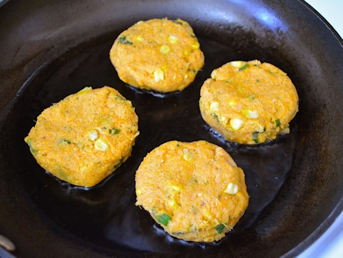 Sweet Potato Corn Cakes 6