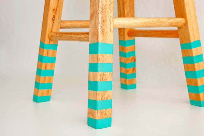 color dipped stools 3