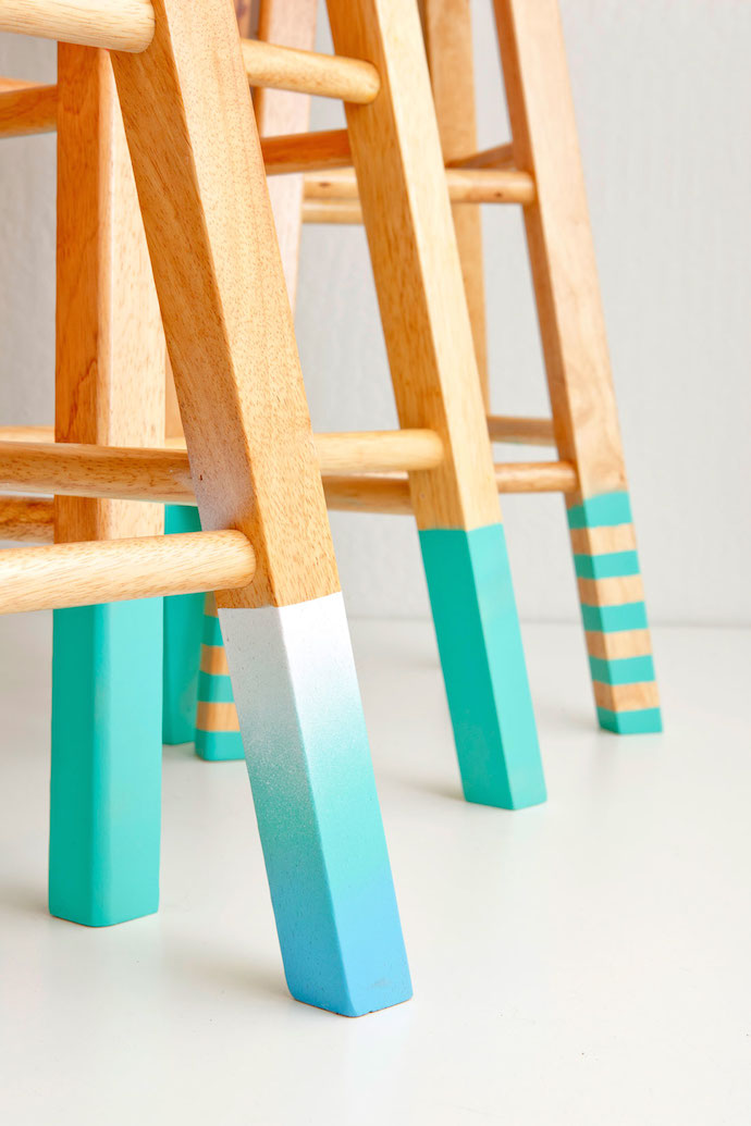 color dipped stools 5