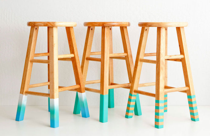 color dipped stools 6