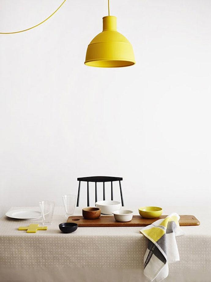 gele lamp