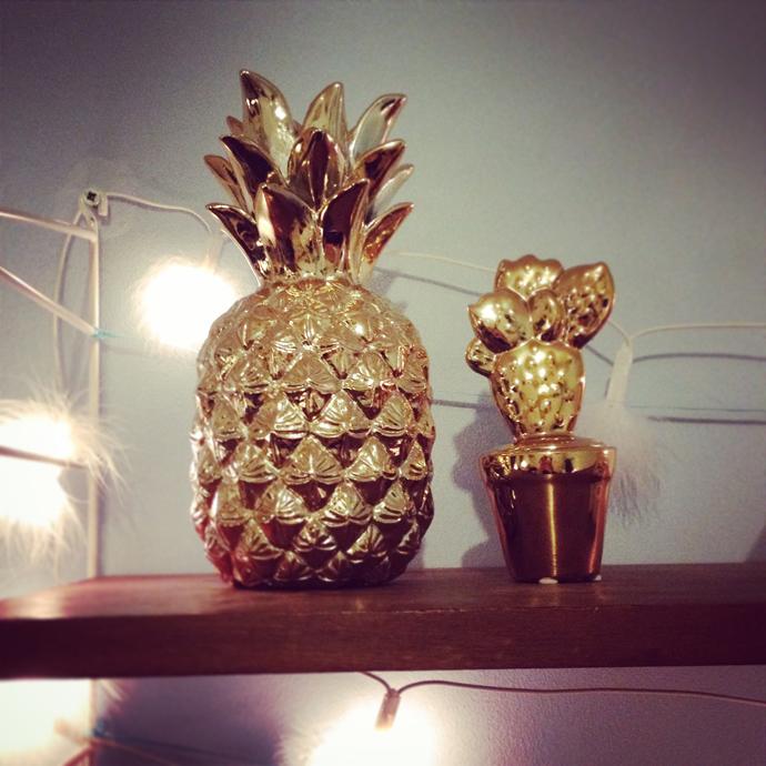 ananas cactus goud