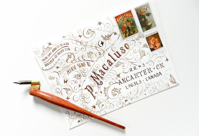 typography envelope 2