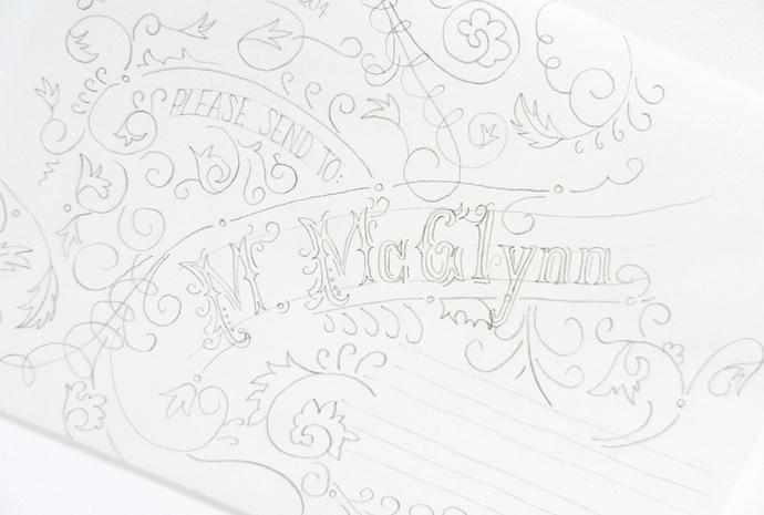 typography envelope 6