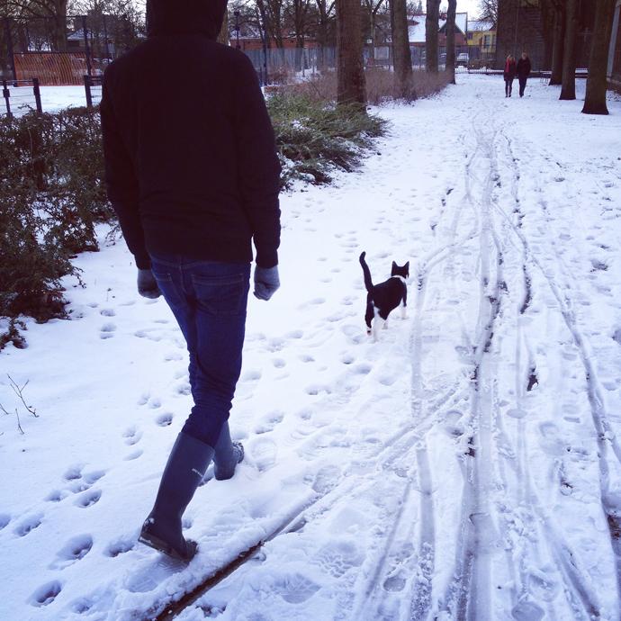 mo in de sneeuw