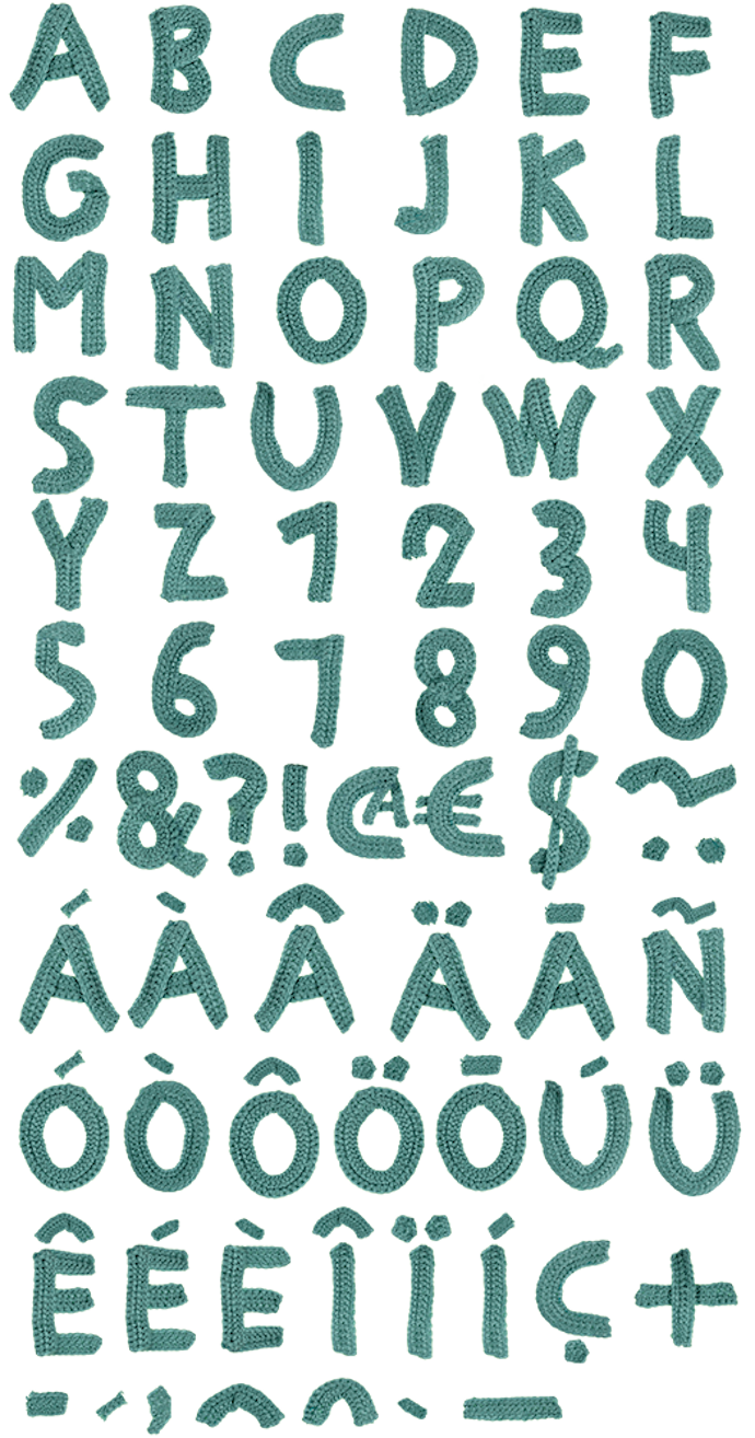 handmade font 7