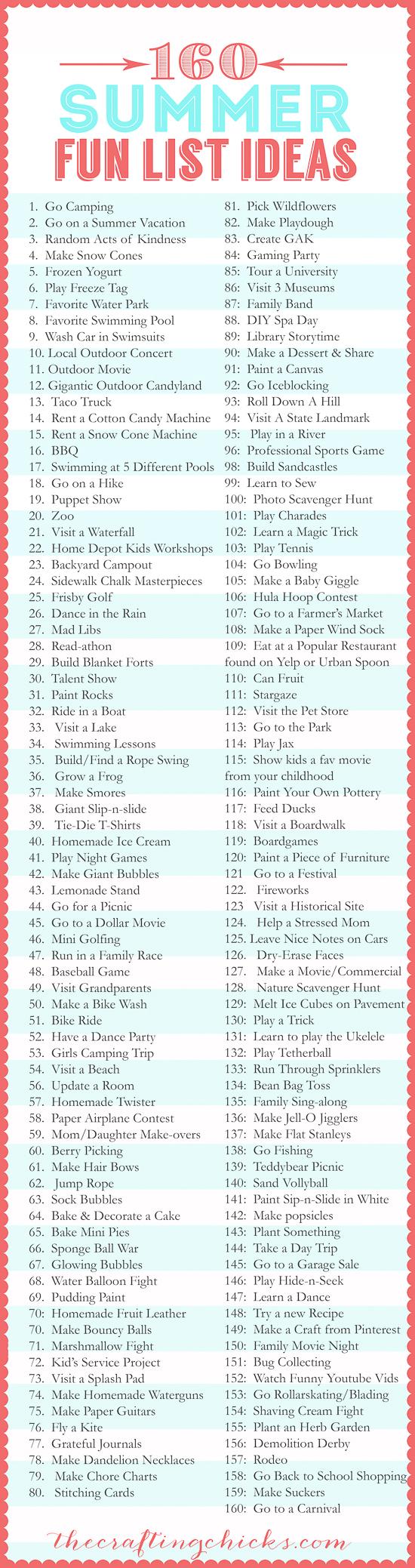 160-Summer-Fun-List-Ideas