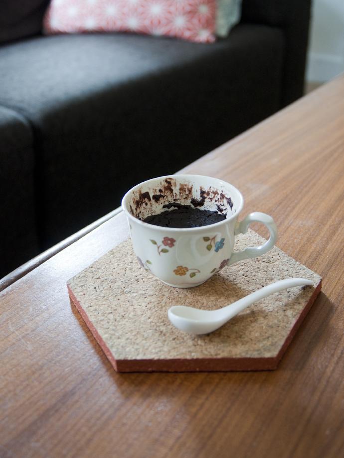brownie mug cake 2