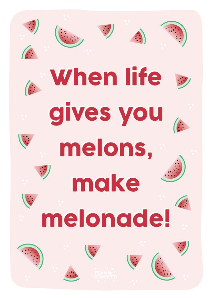 summer poster melon