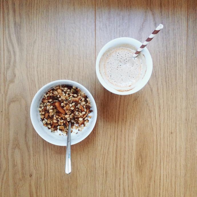 ijskoffie granola