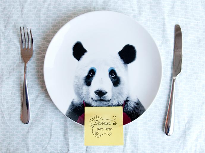panda plate