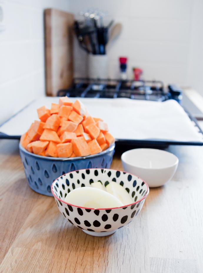 zoete aardappelpuree ingredienten