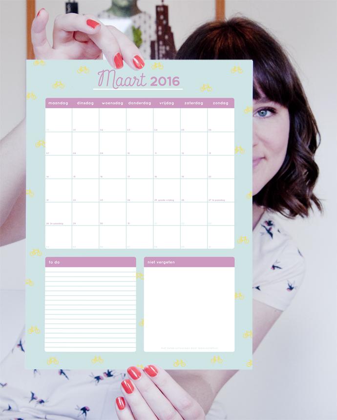maandplanner maart