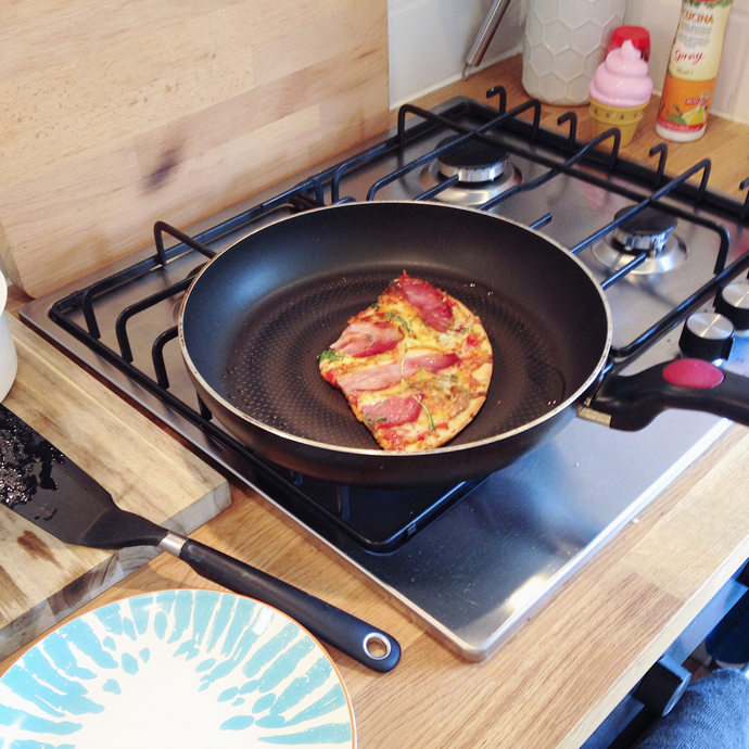pizza opwarmen
