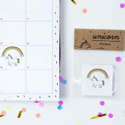 Unicorn stickers (15x)