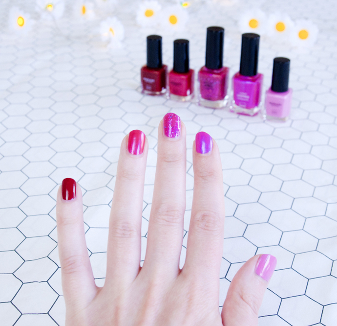 easy fancy pink nails 1