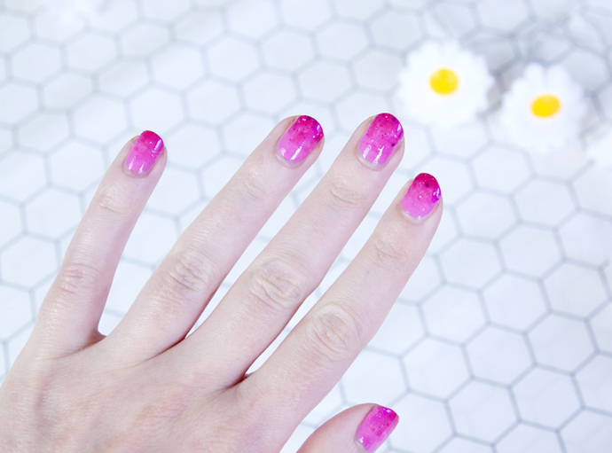 easy fancy pink nails 3