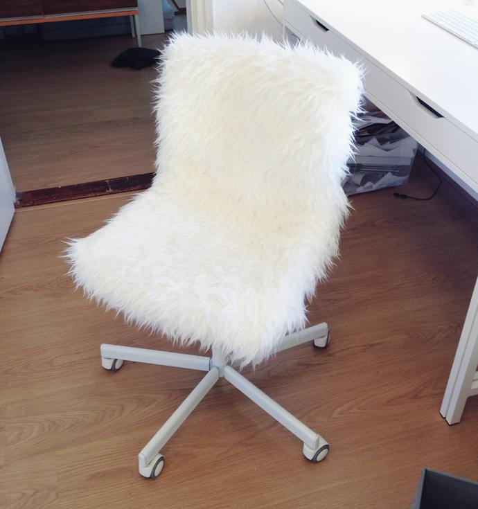 fluffy stoel