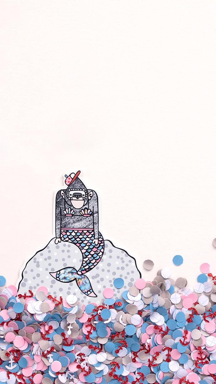 Wallpaper_MonkeyMermaid_franjedesign_BLOG