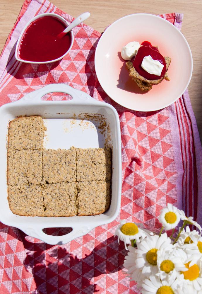 baked oats taart verdeeld