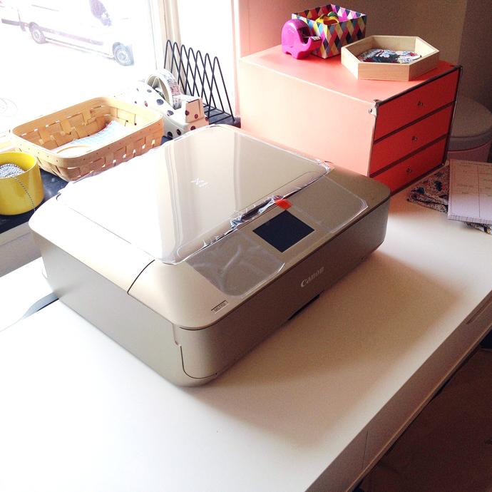 gouden printer