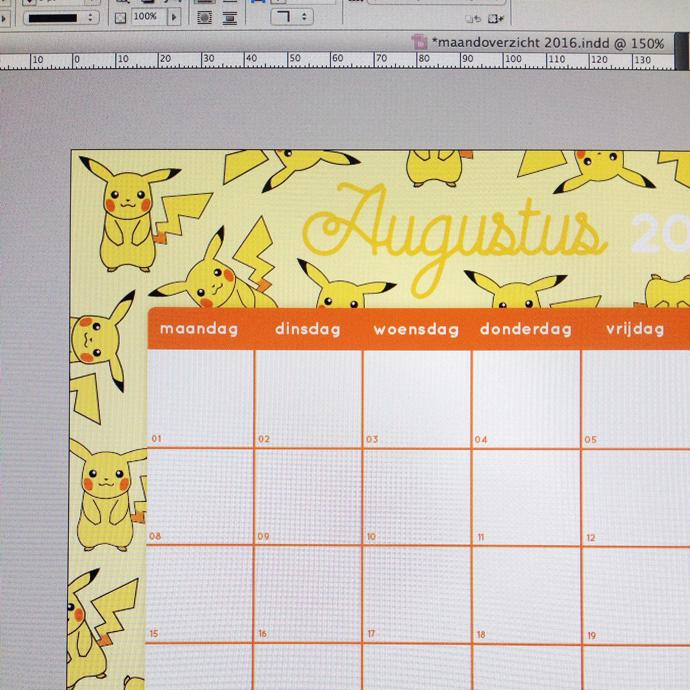 making of maandplanner