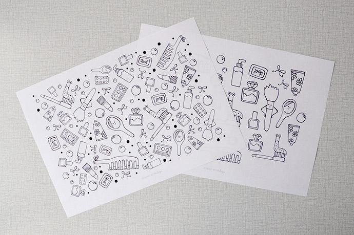 Diy geïllustreerde badkameraccessoires. team confetti bloglovin