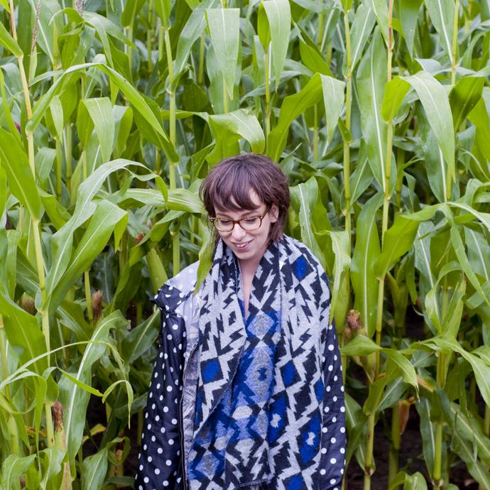 Ingrid in het maisveld