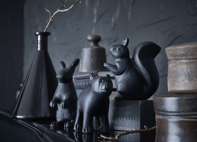 Cute black forest animal ornaments to style your home by Ikea.