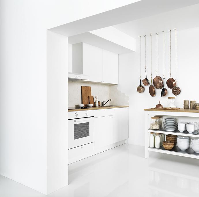Stylish and fresh kitchen design by Ikea.