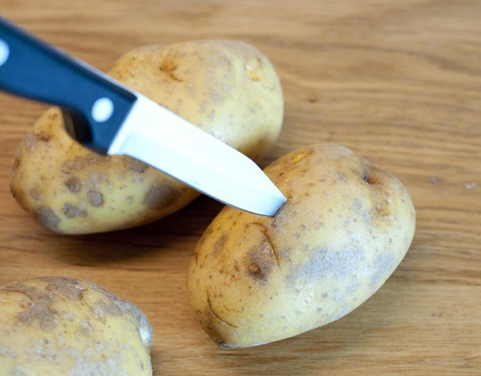 pof aardappel prik