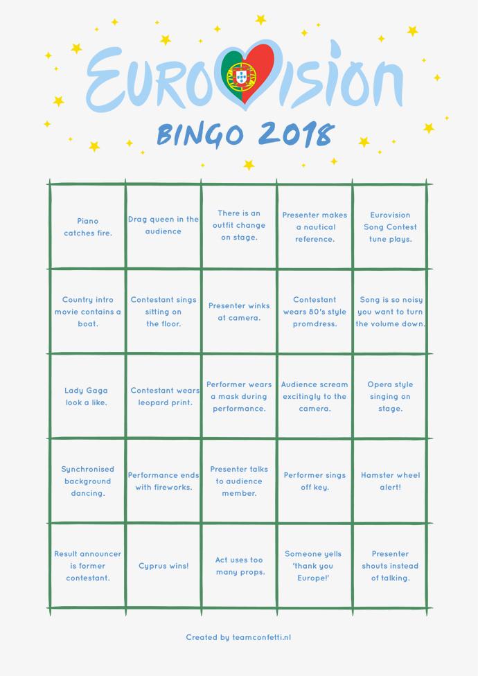eurovision bingo final bingo 2018-1